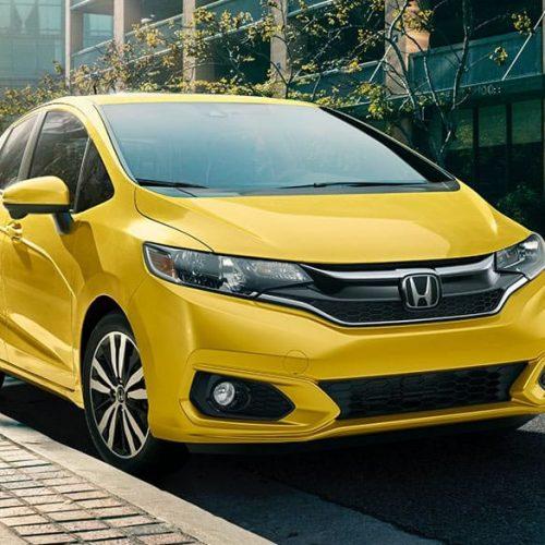 car rental mauritius -yellow honda