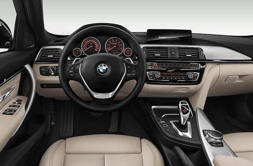 car hire mauritius -BMW 3 interior