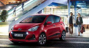 red hyundai - rent a car mauritius island