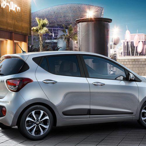 car hire mauritius - grey hyundai