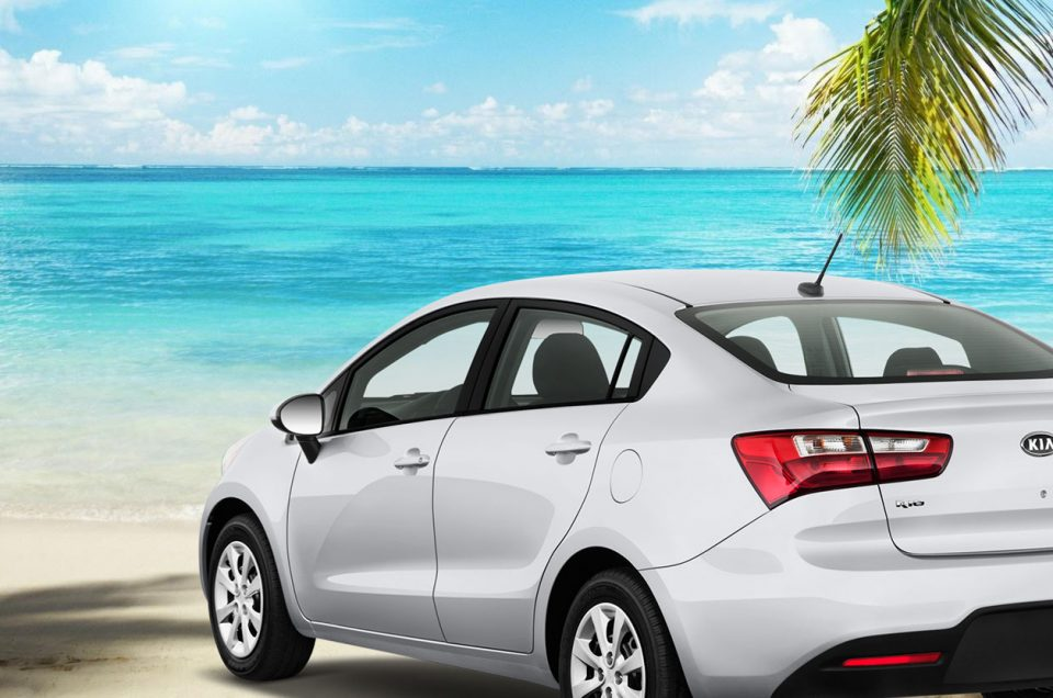 rent a car mauritius island - car white