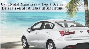 rent a car mauritius island - white car